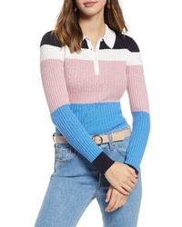 1901 Long Sleeve Polo Sweater