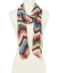 Black Multi Stripe Scarf