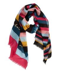 kate spade new york Enchanted Stripe Wool Scarf
