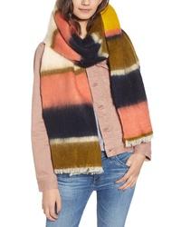 Madewell Fuzzy Multi Stripe Scarf