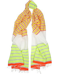 Lemlem Konjo Striped Cotton Blend Gauze Scarf