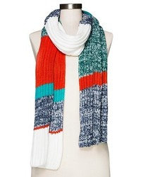 Multi Stripe Knit Scarf Mossimo Supply Cotm