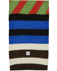 Opening Ceremony Multicolor Box Logo Patchwork Scarf