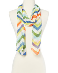 Navy Multi Stripe Scarf