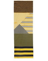 Pierre Louis Mascia Pierre Louis Mascia Stripe Silk Twill Scarf
