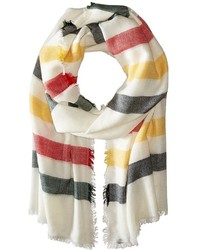 Stripe featherweight wool scarf sweater medium 426669