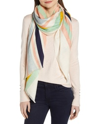 Tory Burch Striped Traveler Scarf