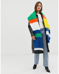 ASOS DESIGN Oversized Long Woven Scarf In Multi Stripe