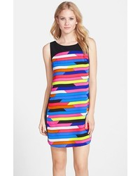 Print crepe shift dress medium 229539