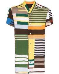 Rick Owens Golf Uxmal Striped Shirt