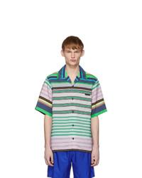 Prada Multicolor Striped Short Sleeve Shirt