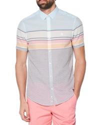 Original Penguin Slim Fit Engineered Stripe Woven Shirt
