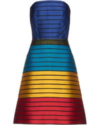 Freesia strapless striped colour block dress medium 1252081