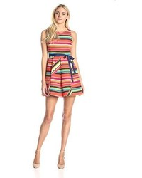 Plenty by tracy reese sahsa sleeveless fit and flare stripe dress medium 1252078