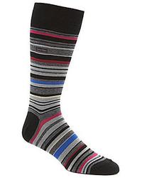 Calvin Klein Barcode Multi Stripe Casual Crew Socks