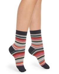 Paul Smith Clarissa Swirl Stripe Crew Socks