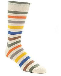 Daniel Cremieux Cremieux Multi Rugby Stripe Mid Calf Socks