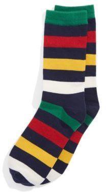 Hudsons Bay Company Yipes Stripes Socks Navy Multi Stripe