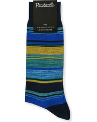Pantherella Moxon Striped Cotton Blend Socks