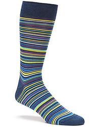 Bugatchi Multi Striped Mid Calf Socks