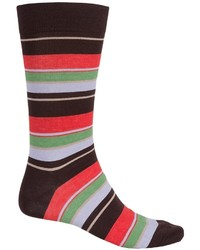Pantherella Multi Wide Stripe Knee High Socks Crewf