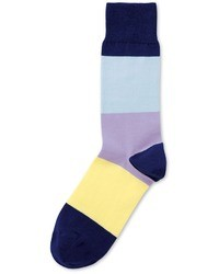 Charles Tyrwhitt Navy Lemon Lilac And Sky Socks