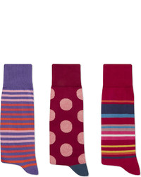 Paul Smith Red Striped Socks