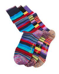 Robert Graham Merilon Striped Socks 3 Pairs