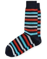 Neiman Marcus Rugby Three Stripe Socks