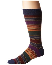 Etro Striped Socks Crew Cut Socks Shoes