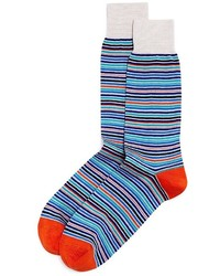 The Store At Bloomingdales Multicolored Stripe Socks