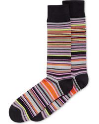 Alfani Variegated Stripe Socks Created For Macys