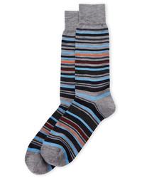 Lorenzo Uomo Wool Blend Stripe Socks