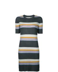 MAISON KITSUNE Maison Kitsun Striped Ribbed Knit Dress