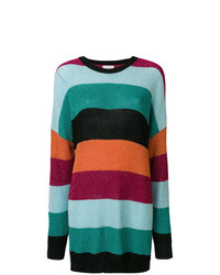 Laneus Striped Sweater Dress