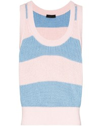 Prada Striped Cotton Vest Top