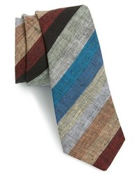 Multi colored Horizontal Striped Tie