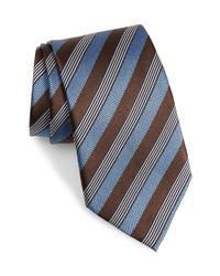 Ermenegildo Zegna Stripe Silk Cotton Tie