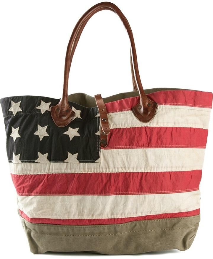 3772f7a5ce ... Striped Tote Bags Denim   Supply Ralph Lauren Ralph Lauren Denim Supply  Flag Motif Tote