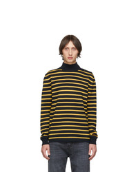 Stella McCartney Black And Yellow Striped Breton Turtleneck