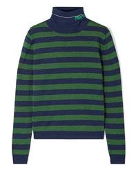 Prada Metallic Wool Blend Turtleneck Sweater