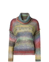Roberto Collina Striped Roll Neck Sweater