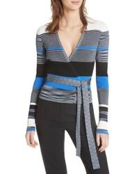 DVF Diane Von Crop Wrap Sweater