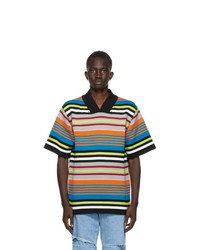 AGR Multicolor Striped Short Sleeve Sweater