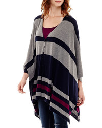 Stylus stylus striped poncho sweater medium 345036