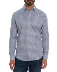 Robert Graham Candido Houndstooth Check Button Up Shirt