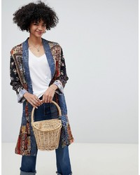 Free People Songbird Patched Longline Coat