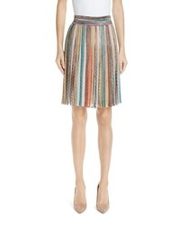 Missoni Metallic Stripe Knit Skirt