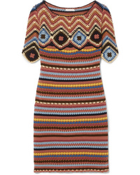 See by Chloe Crocheted Cotton Mini Dress