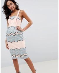 ASOS DESIGN Premium Lace Pencil Midi Dress With Tulip Hem
